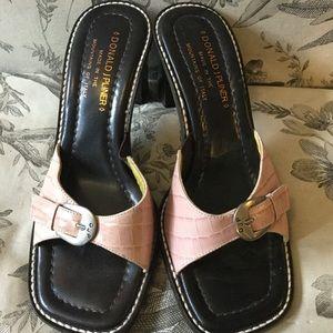 DONALD J. PLINER   Peta Croc Print Mule Sandal